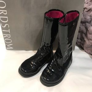 Tucker + Tate Little Girls Black Patent Boots